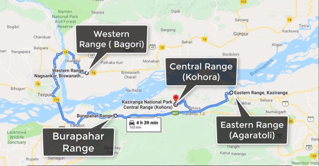 geographical location of Kaziranga National Park