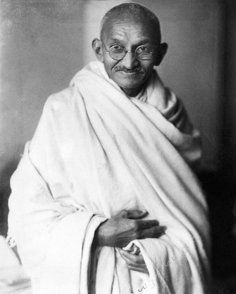 Mahatma Gandhi, studio, 1931