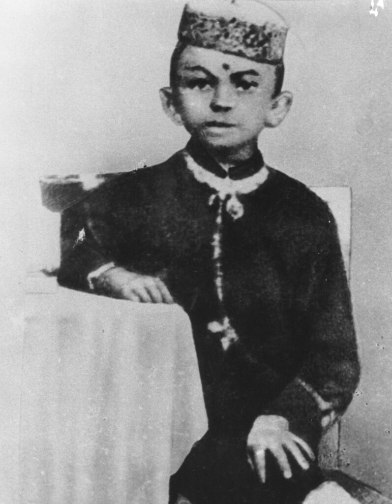 Mohandas Gandhi age 7