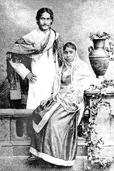 Rabindranath Tagore Mrinalini Devi 1883