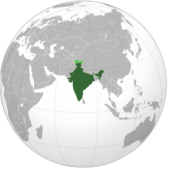 geography location of india