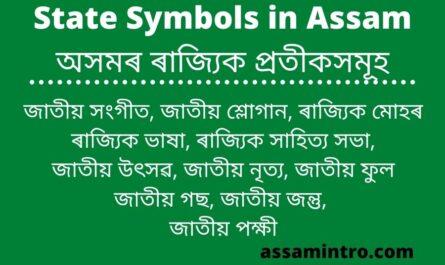 State Symbols in Assam