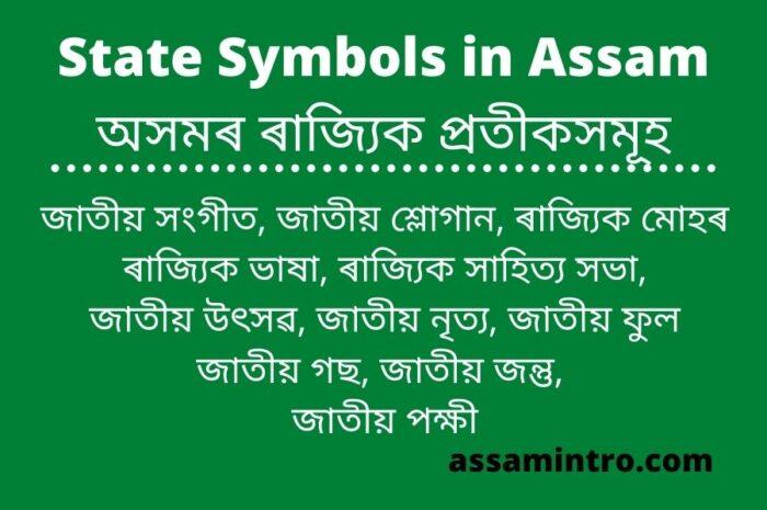 State Symbols in Assam অসমৰ ৰাজ্যিক প্ৰতীকসমূহ