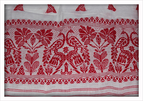 Gamucha, an honorary piece of cloth commonly used for Felicitation in Assam
