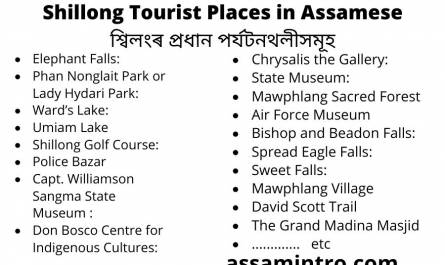 Shillong Tourist Places in Assamese